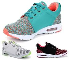 Womens Lace Up Slip On Casual Running Casual Trainers Sports Shoes Flats Pumps
