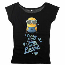 Ladys Shirt - Minions - Crazy Little Thing Called Love  - NEU -