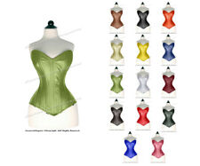 24 Double Steel Boned Waist Training REAL LEATHER Long Overbust Shaper Corset