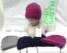 Paul Smith Authentic BNWT 100% Cashmere Ribbed Hat (One Size) RRP £99