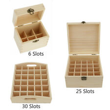 6/ 25/ 30 Bottles Essential Oil Wood Box Organizer Large Storage Case Protector