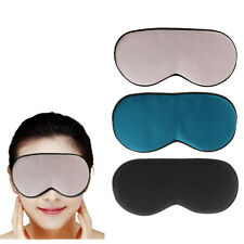 1PCS New Pure Silk Sleep Eye Mask Padded Shade Cover Travel Relax Aid Blindfold