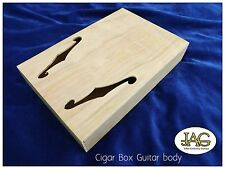 Cigar Box project guitar body. DIY make your own. F hole type. CB001