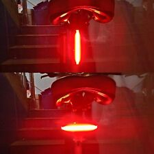 LED USB Rechargeable Bike Cycling Bicycle Tail Rear Safety Warning Light Lamp