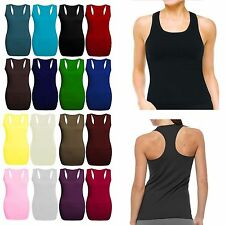 New Ladies Racer Back Muscle Vest Gym Sleeveless Vest Top Plus Sizes Sport Shirt