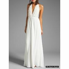 Vestito Lungo Copricostume Bianco Donna Woman Cover Up Maxi Dress 110293