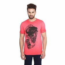 Ed-Hardy Red Slim Fit Round Neck High Quality T-Shirt For Men & Boys