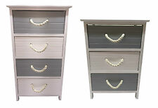 Stylish 3or 4 Wooden Drawers Storage Cupboard Bedside Table Cabinet Hallway Unit