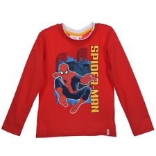 Tee shirt manches longues Spiderman enfant rouge