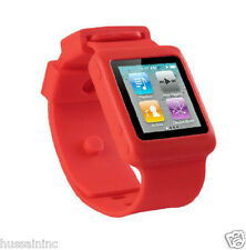 WATCH STRAP FOR IPOD NANO6 GEN WITH SOFT RUBBER BAND WITH DIFFERENT COLORS.