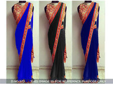 New Indian Ethnic Fancy Saree Partywear Bollywood Sari,Designer Unstich Blouse