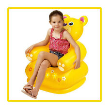 Intex Happy Inflatable Baby Safety PVC Bear Panda Animal Chair Sofa Stool Seat