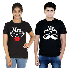 Osiyankart black couple t-shirt mr & mrs 4 all hot & sexy couple in love
