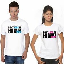 Osiyankart couple t shirt dont look at him he is mine dont look at her she is