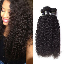 Naturel Noir Tissage Kinky Curly Bresilien Extension Cheveux Humain Hair 3 Packs