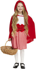 Girls Red Riding Hood Fancy Dress Costume Fairy Book Story Tale Wolf Cape