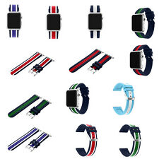 Contrast Color Silicone Replacement Strap Sport Band For Apple iWatch 42mm/38mm