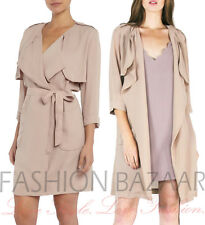 NUOVO donna marchio Design LYDC LONDON CHIFFON ESTATE Cappotto trench