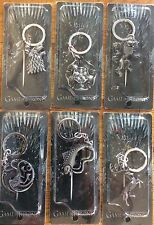 Game Of Thrones House Keyring Stark Lannister Tyrell Tully Baratheon Targaryen