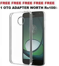 Combo Transparent Back Case Cover + Tempered Glass For MOTO G5 Plus / G5+