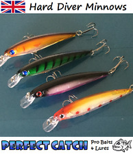 Hard Minnow Fishing Lures Bait Swimbait Plug Crank Diver Rattle Pike Bass Trout