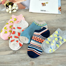 1 Pair Cute Casual Cotton Women Girl Fruit Short Sock Ankle Sock Soft Boat Sock