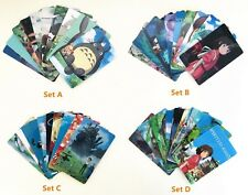 10 Pcs Studio Ghibli Totoro Howl's Moving Castle Spirited Away Cards Stickers