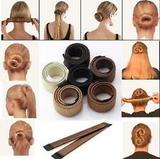 Hair DIY Styling Donut Former Foam French Twist Bun Maker Black Brown Blonde UK.