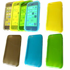 NEW 360° PROTECTIVE 3D SLIM SOFT GEL SILICONE CASE COVER FOR IPHONE 5C FLIP SKIN