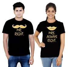 Premium Couple T Shirt Black Gold Collection Mr and Mrs (Osiyankart) 09