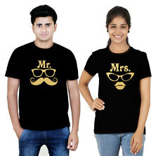 Premium Couple T Shirt Black Gold Collection Mr and Mrs (Osiyankart) 08