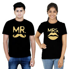 Premium Couple T Shirt Black Gold Collection Mr and Mrs (Osiyankart) 02