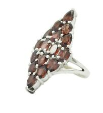 likely Garnet 925 Sterling Silver Red Ring indian L-1.5 IN