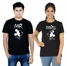 Osiyankart Black couple t shirt Mr. Mickey Mrs Minnie 4 hot & sexy couples in lo