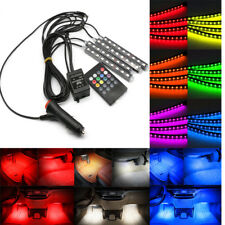 4 x LED Car SUV Interior RGB Atmosphere Decorative SMD Light Neon Lamp Strip UK