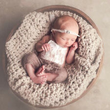 Baby Kids Newborn Toddler Knit Jumpsuit Photography Bodysuit Outfits