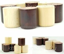 4x SOLID WOOD REPLACEMENT FURNITURE LEGS/FEET - SOFA, CHAIR, SETTEE SELF DRILLED