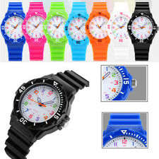 SKMEI Boy Girls Kids Candy Color Rotatable Case Silicone Waterproof Quartz Watch
