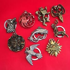 A Game of Thrones - Metal Keyring Key Ring Chain - Stark Targaryen Greyjoy - NEW