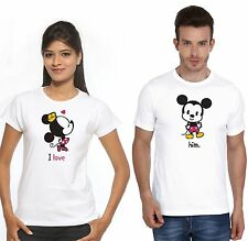 Couple T Shirt Osiyankart PCotton Mickey Minnie i love him hot & sexy Couples in