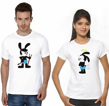 Osiyankart Couple T Shirt Mickey Devil  Minnie angel hot & sexy Couples in love