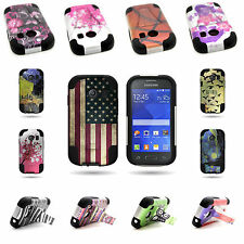 Rugged Shockproof Kickstand Hybrid Cover Case for Samsung Galaxy Ace S