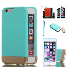 Shockproof Hybrid Rugged Rubber Hard Bumper Case Cover Skin For Apple