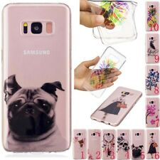Clear Patterned Ultra Slim Rubber Soft TPU Silicone Back Case Cover For Samsung