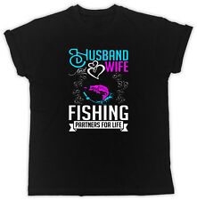 Fishing T Shirt Partners for Life Husband Wife Ideal Gift Couple Unisex Tshirt