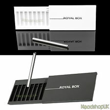 Royal Box Snuff Dispenser with multiple compartments and Snorter Tube Sniff Set