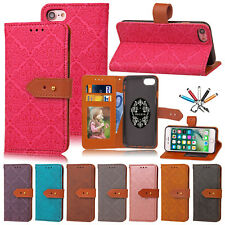 Luxury Leather Wallet Flip Stand Buckle Card Slot Case Cover For iPhon