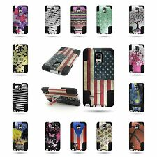 Hybrid Design Kickstand Tough Cover Heavy Duty Case for Samsung Galaxy
