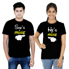 100% cotton Couple T Shirt She's mine he's mine 4 hot & sexy lovers osiyankart