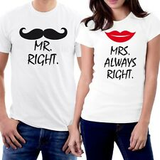 Osiyankart Cotton Couple T Shirt Mr. & Mrs always right for all hot & sexy coupl